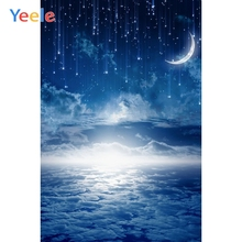 Yeele Dreamy Sky Night Moon Star Cloud Wedding Photography Backdrop Baby Birthday Party Photographic Background For Photo Studio star night sky space galaxy themed star wars photo studio background vinyl cloth high quality computer printed wall backdrop