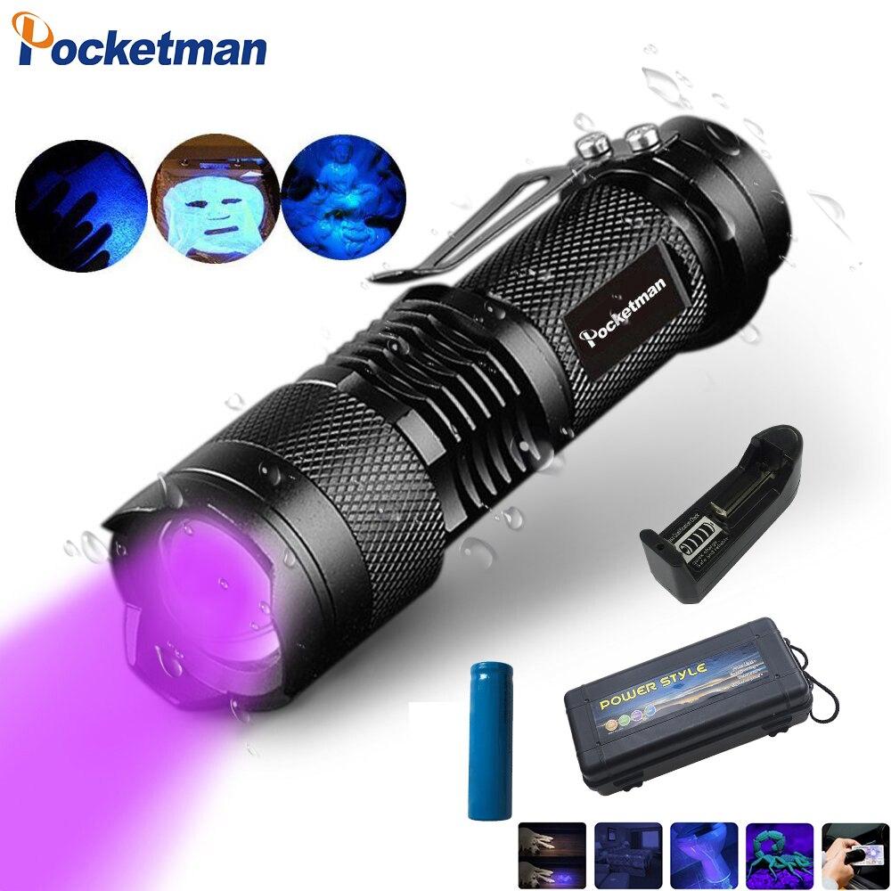 51 LED UV Lumière Ultraviolette Noire Lampe de Poche Torche Scorpion