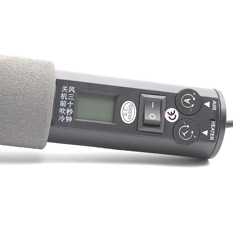 8018lcd Heat Gun 220v Electrical Temperature Digital Display Temperature Adjustable Building Hair Dryer Hot Air Gun Soldering