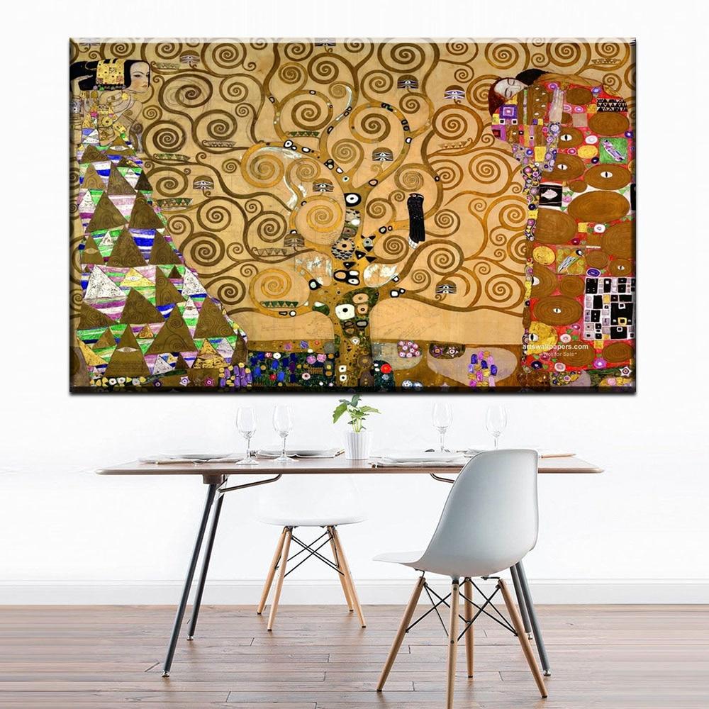 ZZ1739 moderne décoratif toile art arbre de vie par Autrichien Peintre Gustav Klimt toile photos huile art peinture sans cadre art