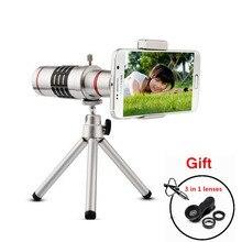 Universal Caja de lente de ojo de Pez Cámara 18x de Zoom Óptico Telescopio Del Teléfono Móvil para iphone 7 s7 sumsang xiaomi mi5 sony lg huawei p9