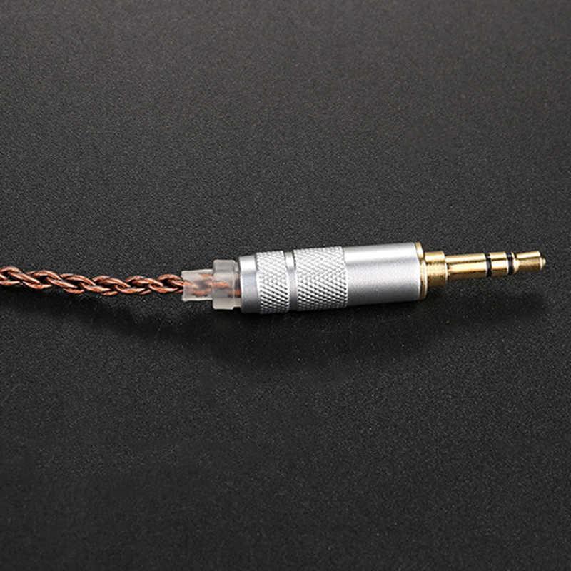 Upgrade DIY MMCX kabel do Shure SE215 SE425 SE535 SE846 UE900 słuchawki słuchawki AUX 3.5mm z węże termokurczliwe