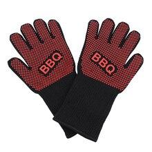 GVCD экстремальные термостойкие перчатки для барбекю для Приготовление на гриле Толстая силиконовая кухонная печь перчатки для барбекю пара