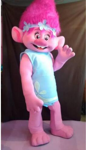 BING RUI CO New Hot Mascot Costume -Trolls-Complete Adult Outfit - Mascot Parade Quality Clowns Birthdays Troll