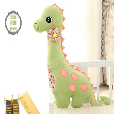 small light green dinosaur toy creative plush dinosaur pillow doll gift about 80cm 0054