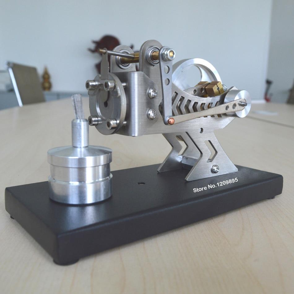 Stirlingmotormodel Klassieke vacuümmotor Zwarte wetenschap en - School en educatieve benodigdheden - Foto 4