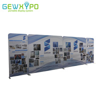 27ft Length Straight Tension Fabric Backdrop Stand With Graphics Printing,High Quality Portable Advertising Banner Display Wall