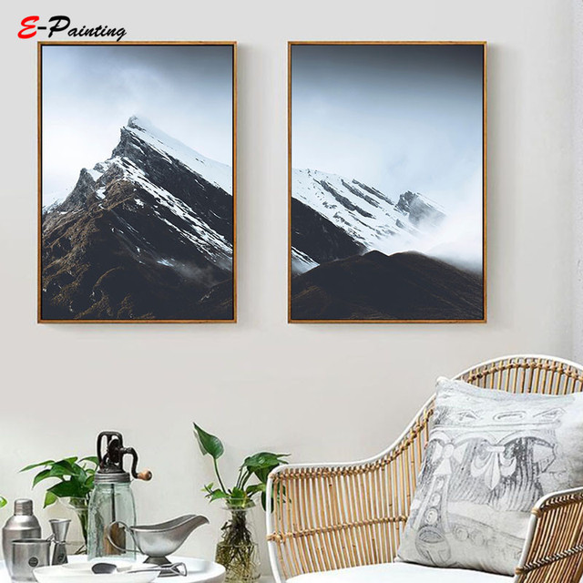 Nordic Wall Painting Canvas Print Canada Mountain Lake Printable Poster Nature Landscape Decoration Picture Living Room Decor