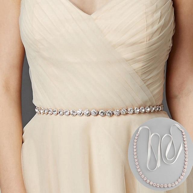 JLZXSY Cintura Cintura Fusciacca Da Sposa In Oro Rosa Strass di Cristallo Da  Sposa Strass Trim