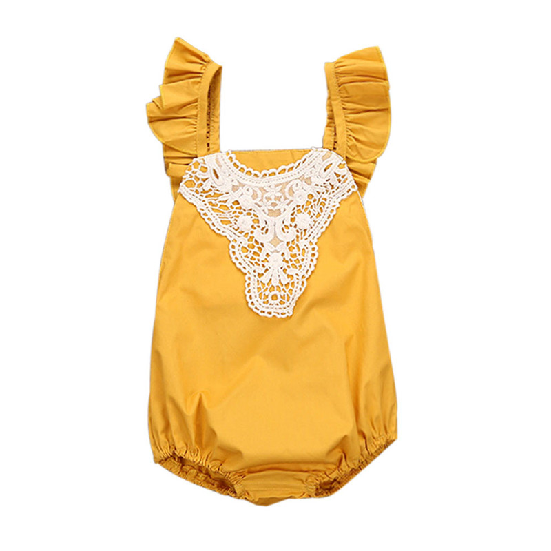 2017 Summer Lace Baby Rompers Newborn Baby Girls Clothes Infant Girls Jumpsuit Cotton Blend Baby Girl Summer Overalls Wear 0~24M