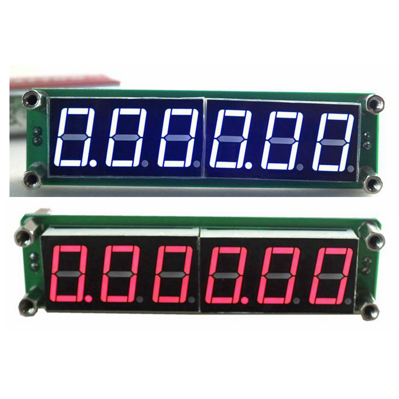 0.1MHz~65MHz Digital Frequency Meter Counter Tester Cymometer with Red/Blue Led Display frequency meter counter cymometer antenna analyzer radio new 100