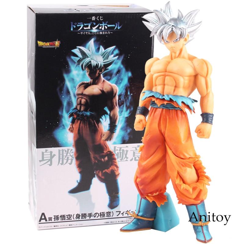 SCultures BIG Dragon Ball Z Ultra Instinct Figure Colosseum 5 Super Saiyan Son Goku Sliver Hair PVC Figure Collectible Model Toy