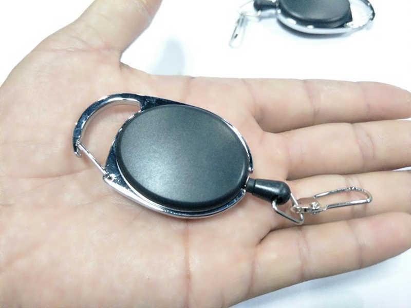 Correia de identificação de plástico abs da liga de zinco do carretel de crachá da tração retrátil bonito nome tag cartão titular do crachá bobinas recoil cinto chaveiro