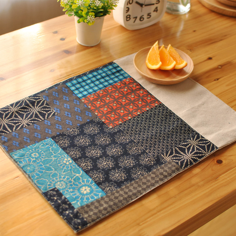 cotton and linen placemat cloth insulation mat dining
