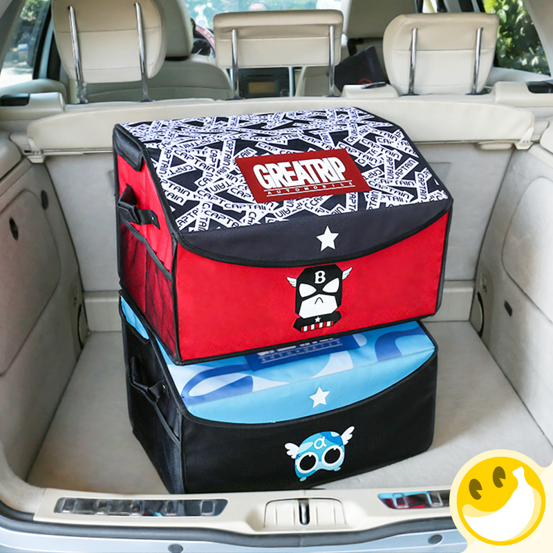 Disney Collapsible Storage Trunk Toy Box Organizer Chest: Marvel Style Car Trunk Organizer Toy Cargo Container