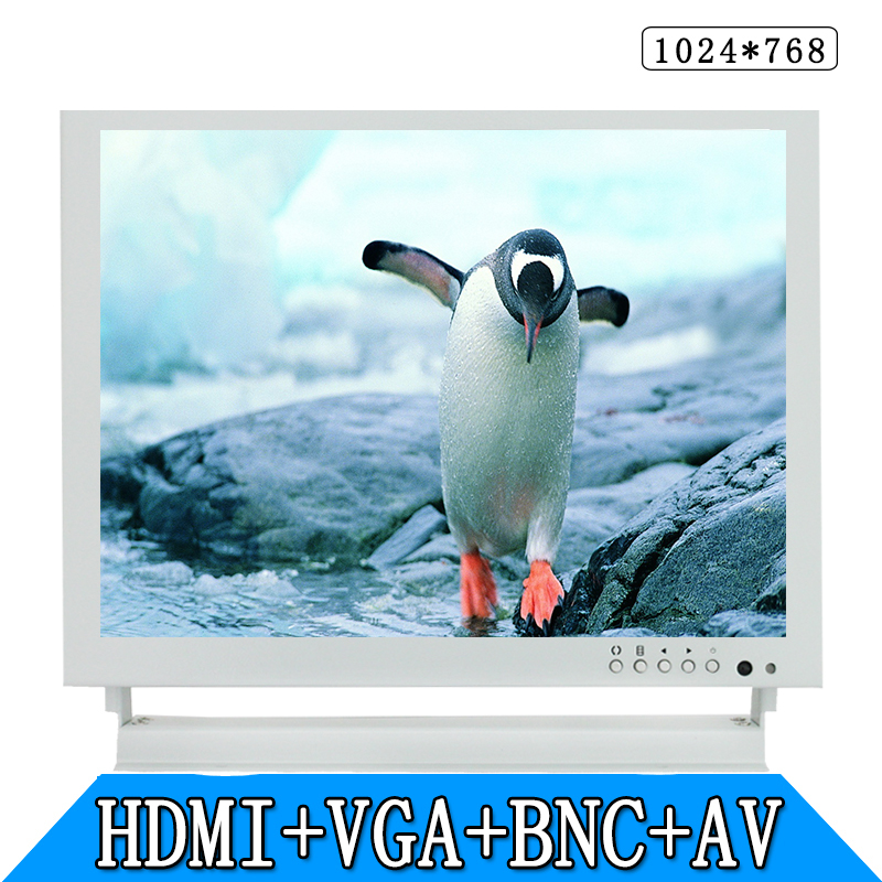 8 inch industrial safety monitoring computer LCD monitor display BNC AV VGA HDMI metal white 8 inch open frame industrial monitor metal monitor with vga av bnc hdmi monitor