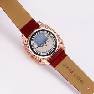 Image 2 - Роскошные женские часы с перламутровыми стразами, японские кварцевые часы, модные часы с кристаллами из натуральной кожи, подарок на день рождения, коробка Melissa