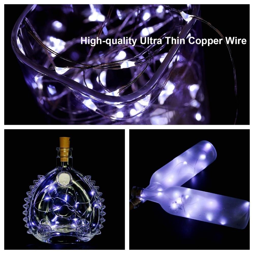 9 Kinds Color 2M 20Led Hot Sale Bottle Light Wine Bottle Cork Lights Copper Wire String Lights for Wedding Festival Party Decor in Lighting Strings from Lights Lighting