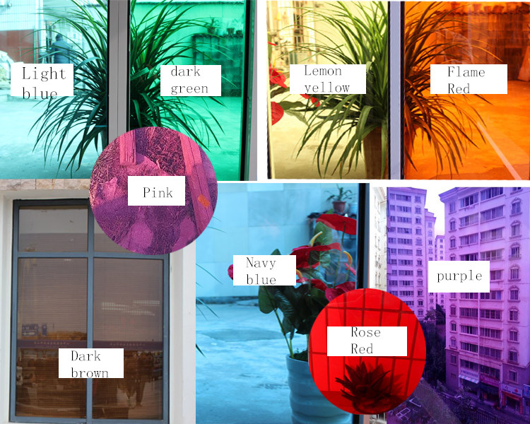 70cm wide glass Window film sunscreen film transparent color shading insulated <font><b>sliding</b></font> door decorated living room home