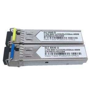 Image 5 - 1 paar SFP BIDI Optische Transceiver Modul 1000BASE BX Optische Modul SM Für GLC BX40 D/U 40km LC DDM Optischen transceiver Modul