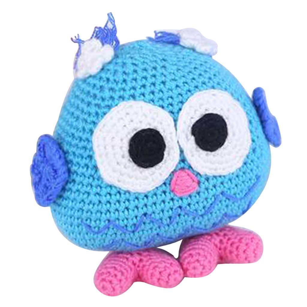 Kit de ganchillo para muñeca de juguete con búho DIY hecho a mano, Kit de Crochet para niños, artesanías para principiantes