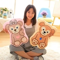 1pc 40*30cm Cute Duffy Bear & Shellie May Plush Pillows Staffed Soft Cartoon Plush Toys Lovely Dolls Gift