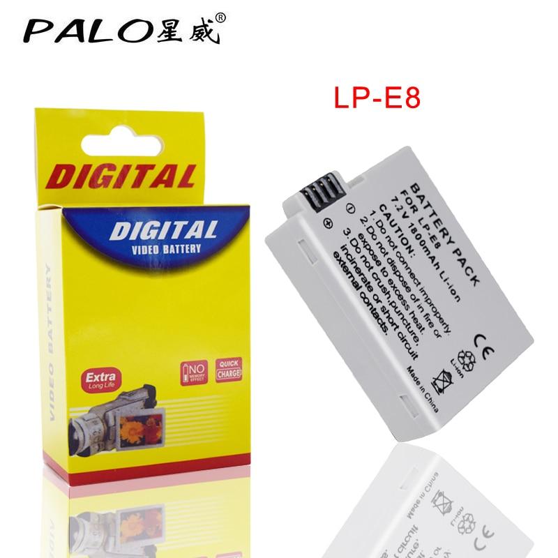 1 PCS LP-E8 Battery Pack Bateria LP-E8 Lp E8 For Canon 550D 600D 650D 700D X4 X5 X6i X7i T2i T3i T4i T5i DSLR Camera 6 orders