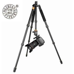Image 2 - سبائك الألومنيوم بيكي QZSD Q999S المهنية التصوير حامل ثلاثي متنقل عدة Monopod الكرة رئيس للسفر DSLR كاميرا