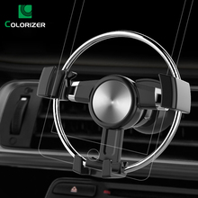 Universal Car Holder For Smartphone 360 Degrees Rotation Gravity Round Car Phone Holder in Car Air Vent Mount For iPhone Samsung usams cd47 creative 2 in 1 wireless charging gravity car air vent mount for smartphone