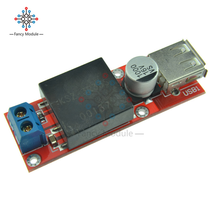 2 pcs KIS3R33S 5V USB DC 7V-24V to 5V 3A Step-Down Buck Module For Phone MP3 MP4