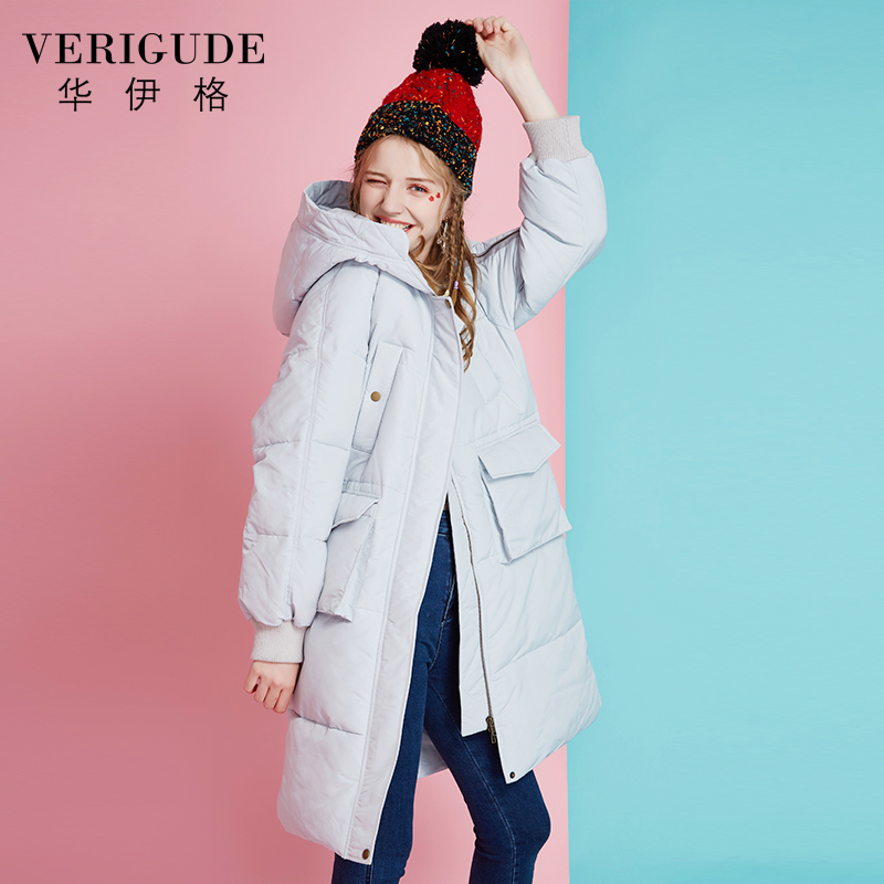 Veri Gude Women's Wadded Coat for Winter Long Hooded Coat Loose Style Padded Outwear Black and Gray Color Long Style Outwear young entrepreneur s gude to s