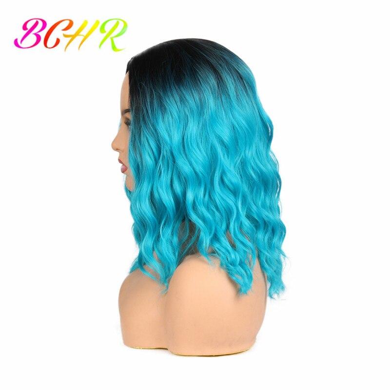 BCHR Ombre Κομψή ώμου-μήκους ουρανού μπλε - Συνθετικά μαλλιά - Φωτογραφία 3