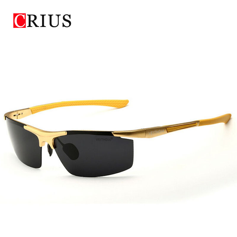 yellow polarized sunglasses 8h4t  new Men's Polarized Sunglasses sports Magnesium aluminum frame drivers  sunglasses High quality export Europe brand band