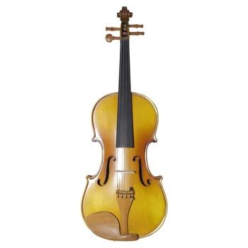 Single Board Backplate Musical Instrument Handmade Antique Violin Natural Stripes Maple Violino Fiddle 4/4 3/4 1/2 1/4 1/8