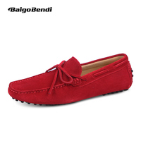 US6 12 Suede Leather Mens SLIP 0N Loafers Casual CAR Shoes Moccasin Men Boat Shoe Tassel