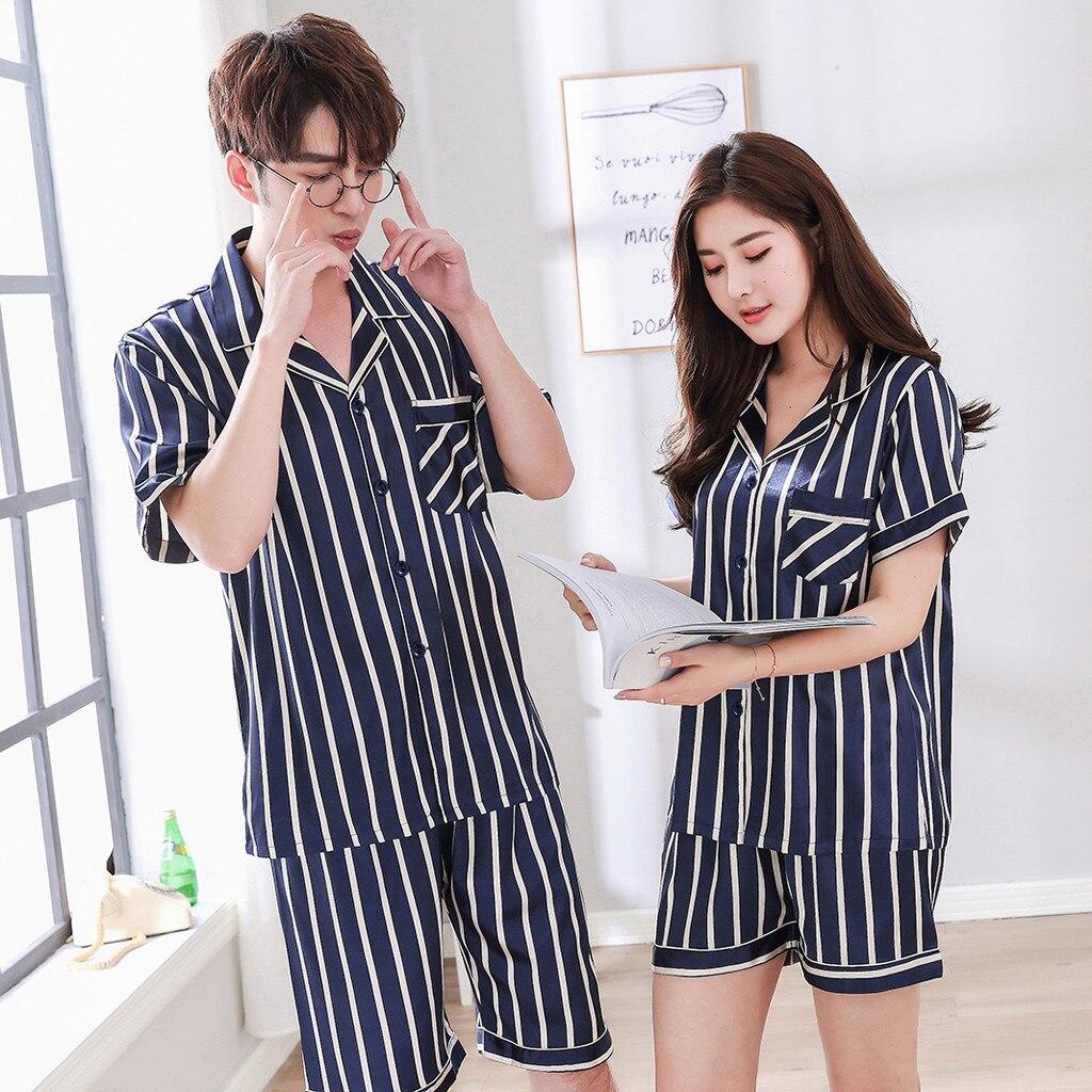 Pyjamas Men Pijamas-Pajamas-Sets Short-Sleeve Male Casual 100%Silk Masculino For Jan9