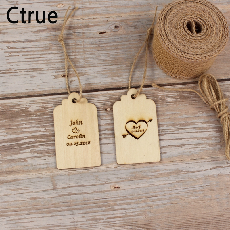 Custom save the date Wooden Tags Personalized wedding favor tags rustic Bridal Shower Favor Tags wooden heart wedding tags in Party DIY Decorations from Home Garden