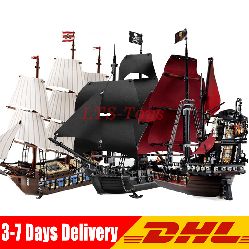 LEPIN 16006 Pirates of The Caribbean Black Pearl +16009 Imperial Warships+22001 Pirate Ship Imperial Warships Compatible Legoing lepin 16009 queen anne s revenge 22001 imperial warships model building blocks for children pirates toys clone 4195 10210