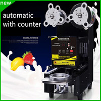 free shipping New design commercial automatic plastic cup sealing machine yogurt milk juice cup sealing machine|machine design|machine machine|machine automatic -