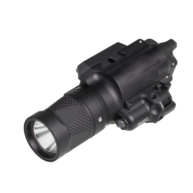 SPINA OPTICS Tactical X400V IR Night Vision Weapon Light Combo Laser  Pistol Gun Hunting Scout Weapon Light
