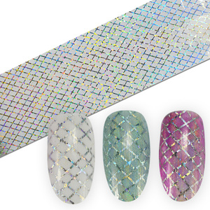 Image 4 - SWEET TREND 100x4cm Holographic Starry Nail Foil Laser Line Nail Art Transfer Sticker Shiny Nail Decorations Accessories LAXK80