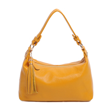 7colors cow leather handbags women 2017 new european fashion brand candy color vintage hobos shoulder bags woman