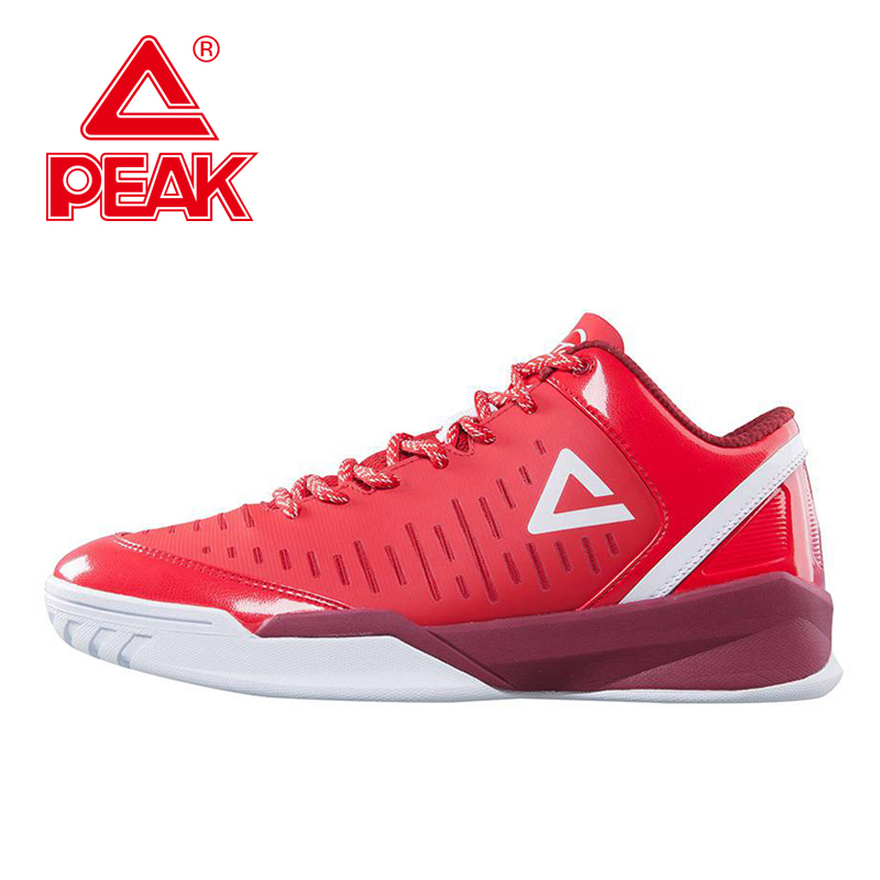 PEAK SPORT Tony Parker II Simple Edition Men Basketball Shoes Wear-resistant Breathable Sneaker Athletic Sports Boots EUR 40-47 iverson basketball shoes male adolescents spring low help iverson war boots light wear antiskid sports shoes