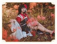 [STOCK] 2018 Game Onmyoji Equinox Flower SSR Awakening Kimono Gorgeous Uniforms Cosplay Costume For Halloween Free Shipping New.