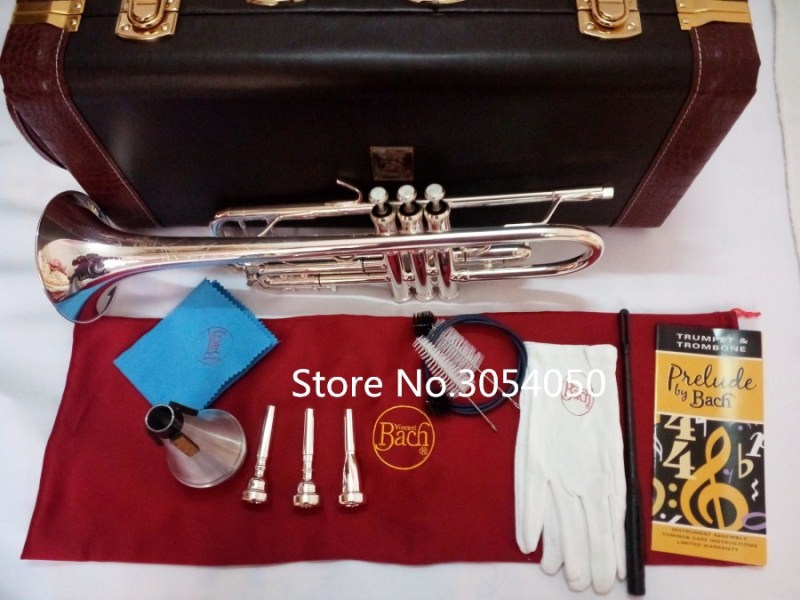 2018New AB-190S New Genuine Americano Top trumpet gold and silver plated  Musical instruments B flat trumpet professional Free