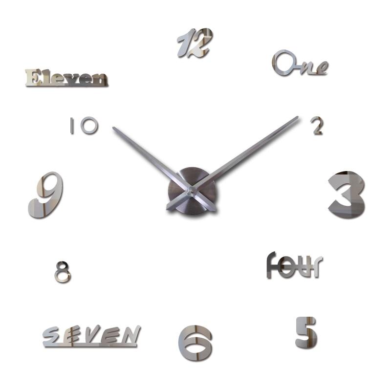 2019 neue wanduhr acryl spiegel uhren reloj de pared quarzuhr horloge - Wohnkultur - Foto 1