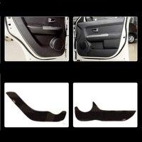 4pcs Fabric Door Protection Mats Anti Kick Decorative Pads For Kia Soul