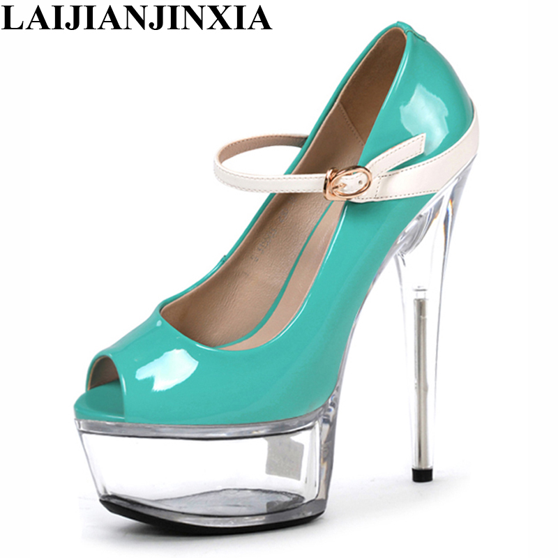 LAIJIANJINXIA New 6 inch sexy clubbing pole dancing shoes Fashion women s  pumps Platforms High-heeled b7f4414fec61