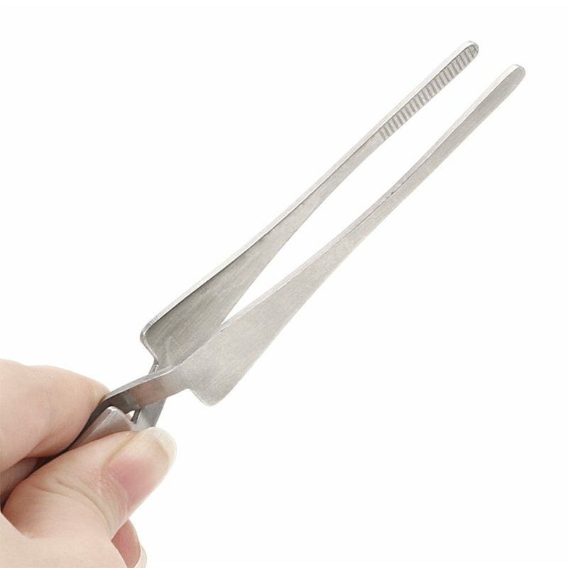 Cross Lock Stainless Steel Reverse Action Curved Straight Tweezer Acrylic Nail Shaping Tweezers Maintenance Tools Industrial Twe
