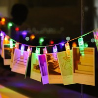 Fantacy Birthday Party Supplier Colorful Starry Photo Holder Sting Lights Clip Rope Lights Garland Dream House
